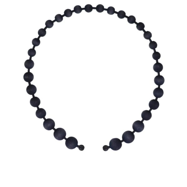 oval Black pearls necklace