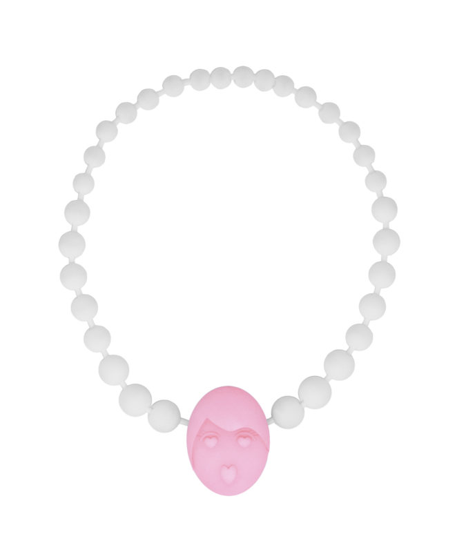 pink love emotions pearl necklace