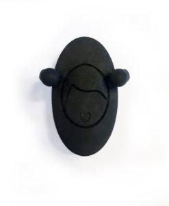 supporto per spilla nera emozioni Oval